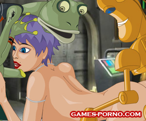 Sex girls with aliens in an erotic game